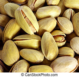 pistachios - background from the fried pistachios