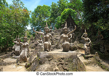 Tanim magic Buddha garden, Koh Samui island, Thailand