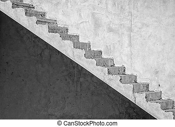 Grunge concrete staircase artistic edit - An abstract image...