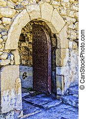 Kales Fort in Lerapetra Doorway Painting