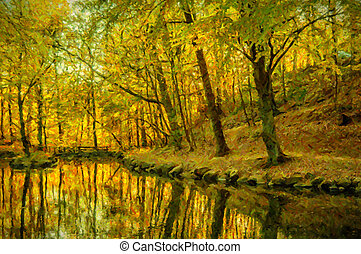 Helsingborg Woodlands Digital Painting - A digital painting...