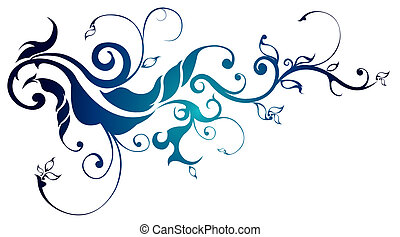 flower pattern - drawing of blue flower pattern in a white...