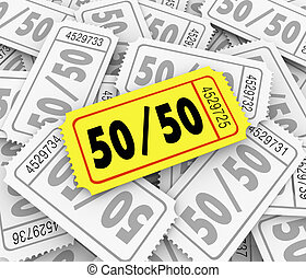 50-Fifty Raffle Tickets Pile Fundraiser Charity Contest...
