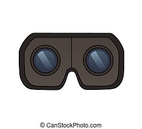 Virtual reality glasses - This is an illustration of Virtual...