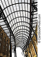 Hay\'s Galleria roof - Interior view of Hay\'s Galleria...