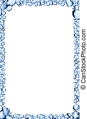 Water Drops Frame - Picture frame made from lot of blue...