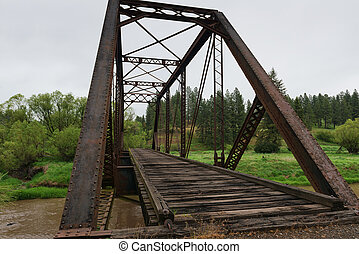 Trestle - Railroad bridge over the Palouse River, Elberton,...
