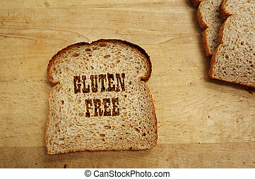 gluten, livre, pão