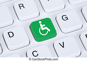 Web accessibility online on internet website computer for...