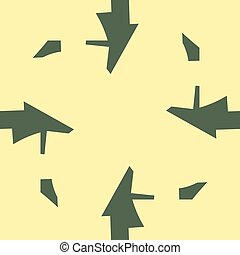 Abstract Arrow Shapes Over Yellow