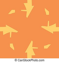 Abstract Arrow Shapes Over Orange