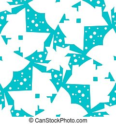Abstract Butterfly Shapes Over Blue