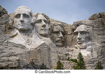 Mount Rushmore Sculpture - Famous Landmark and Mountain...