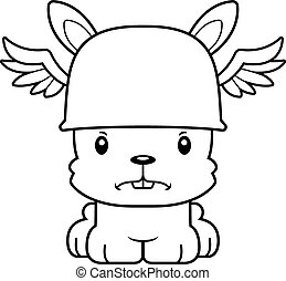 Cartoon Angry Hermes Bunny - A cartoon Hermes bunny looking...