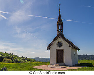 small chapel atop the vosges hills - Small religious chapel...