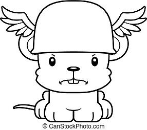 Cartoon Angry Hermes Mouse - A cartoon Hermes mouse looking...