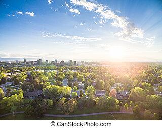 Residential neighborhood - Aerial view of residential...