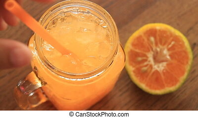 Refresh Drink With Orange juice - Refresh Drink With...