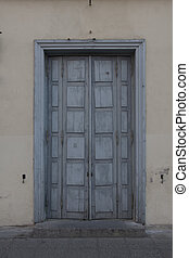 door of middle ages house in old town