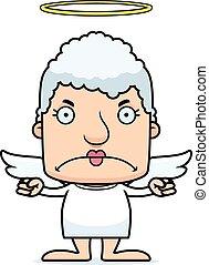 Cartoon Angry Angel Woman