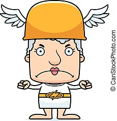 Cartoon Angry Hermes Woman - A cartoon Hermes woman looking...