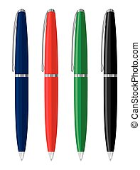 Office pens and pencils vector