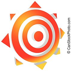 Symbolic sun. Editable vector graphics. Eps 10.