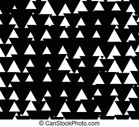 Black and white pattern with triangles up and down Triangle...