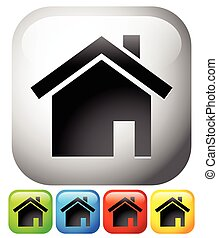 House icons. Home, house, residential building, homepage...