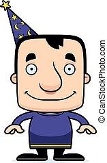 Cartoon Smiling Wizard Man