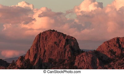 Granite Dells Prescott Arizona - sunset at the scenic...