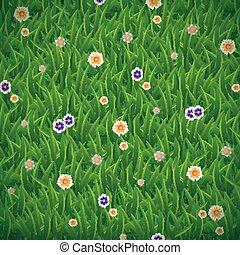 Green grass background - Vector illustration of green grass...