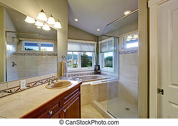 New bathroom conected to master bedroom.