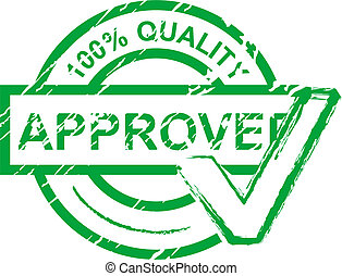 Approved stamp - Check approved stamp islated on white for...
