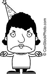 Cartoon Angry Wizard Woman