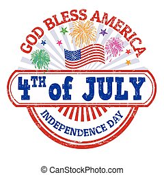 Independence Day stamp - Independence Day grunge rubber...