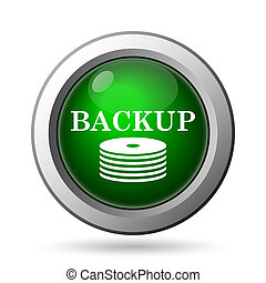 Back-up icon. Internet button on white background