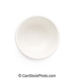 Small white ceramic bowl isolated over the white background,...