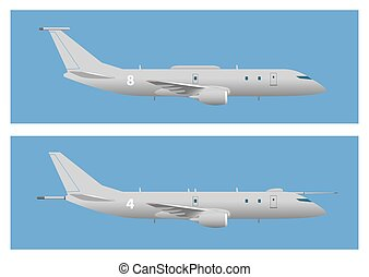 Maritime patrol aircraft. Vector illustration. EPS 10,...