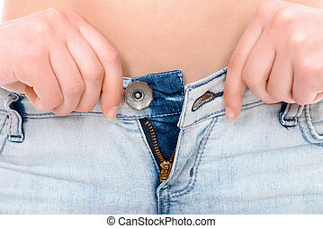 Young girl losing weight