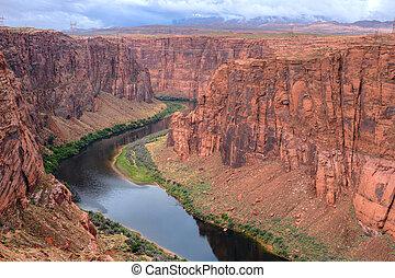 Colorado River Arizona - The Colorado river near Glen Canyon...