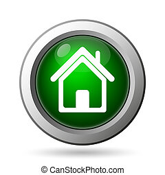 Home icon Internet button on white background