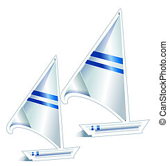 sailboat - drawing of sailboat in a white background