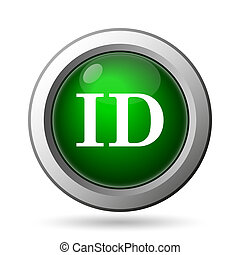 ID icon. Internet button on white background