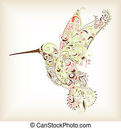 Abstract Hummingbird - Illustration of Abstract Hummingbird