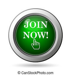 Join now icon Internet button on white background