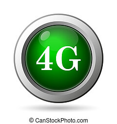 4G icon Internet button on white background