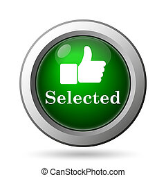 Selected icon Internet button on white background