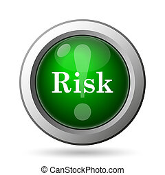 Risk icon Internet button on white background