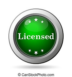 Licensed icon Internet button on white background